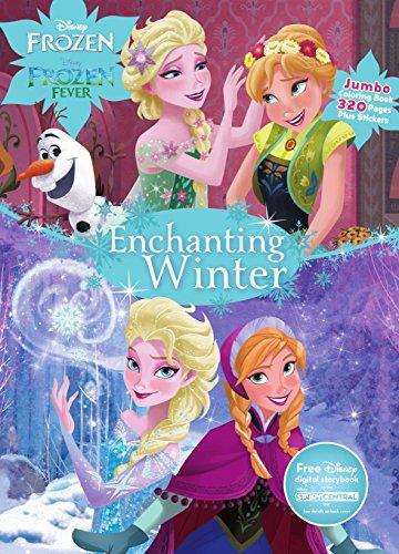 disney frozen enchanting winter jumbo coloring book