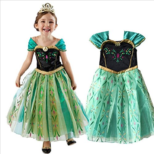anna costume disney frozen inspired coronation dress girls kid halloween 3t 14 3t4t 100cm